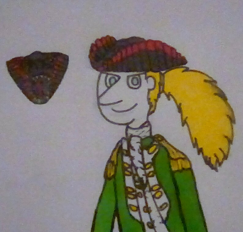 Dr. Ytterbium Wearing A Dinosaur Tricorn (by Super Oliver)